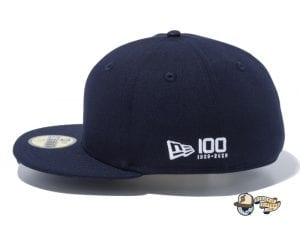 Side Big Logo 100th Anniversary 59Fifty Fitted Cap by New Era Annivlogo