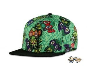Vincent Gordon Removable Turtles Green Fitted Hat by Grassroots