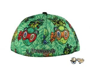 Vincent Gordon Removable Turtles Green Fitted Hat by Grassroots Back