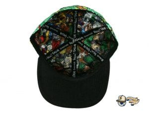 Vincent Gordon Removable Turtles Green Fitted Hat by Grassroots Bottom
