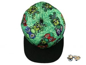 Vincent Gordon Removable Turtles Green Fitted Hat by Grassroots Top
