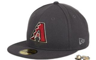 Arizona Diamondbacks A OTC Graphite 59Fifty Fitted Hat by MLB x New Era