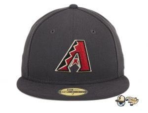 Arizona Diamondbacks A OTC Graphite 59Fifty Fitted Hat by MLB x New Era Front