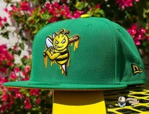 Bee Stinger Green Yellow 59Fifty Fitted Hat by Dionic x New Era