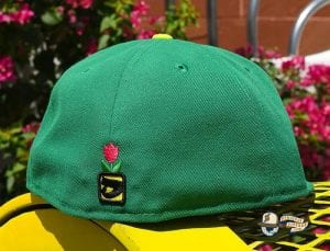 Bee Stinger Green Yellow 59Fifty Fitted Hat by Dionic x New Era Back