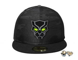 Black Panther 59Fifty Fitted Cap by Team Collective x New Era Glow