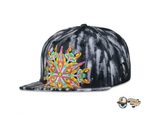 Black Watercolor Mandala Fitted Hat by Jerry Garcia x Grassroots