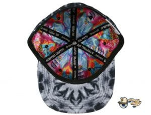 Black Watercolor Mandala Fitted Hat by Jerry Garcia x Grassroots Bottom