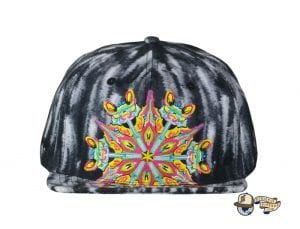 Black Watercolor Mandala Fitted Hat by Jerry Garcia x Grassroots Front
