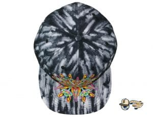 Black Watercolor Mandala Fitted Hat by Jerry Garcia x Grassroots Top