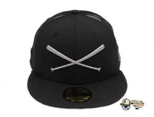 Crossed Bats Heavy Hitters Meshback 59Fifty Fitted Cap by Justfitteds x New Era Front