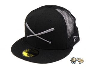 Crossed Bats Heavy Hitters Meshback 59Fifty Fitted Cap by Justfitteds x New Era Side