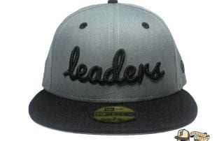 Cursive Charcoal Black 59Fifty Fitted Hat by Leaders1354 x New Era