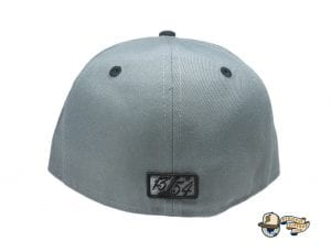 Cursive Charcoal Black 59Fifty Fitted Hat by Leaders1354 x New Era Back