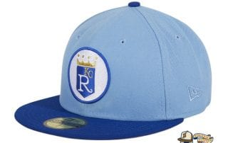 Hat Club Exclusive Kansas City Royals 1971 Logo Light Blue Royal 59Fifty Fitted Hat by MLB x New Era
