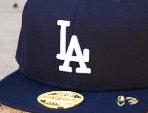 Hat Club Exclusive Los Angeles Dodgers Gold Metal Icon 59Fifty Fitted Hat by MLB x New Era Zoom