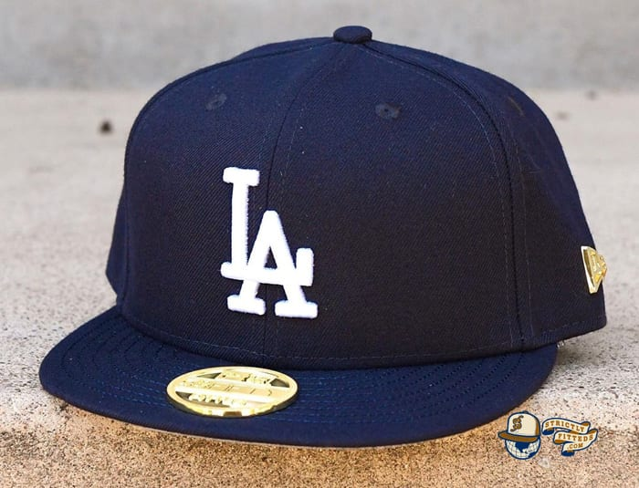 Hat Club Exclusive Los Angeles Dodgers Gold Metal Icon 59Fifty Fitted Hat by MLB x New Era