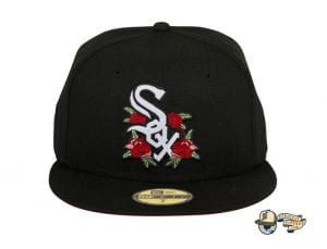 Hat Club Exclusive Rose Floral Red UV 59Fifty Fitted Hat Collection by MLB x New Era Front