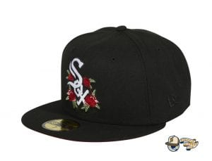 Hat Club Exclusive Rose Floral Red UV 59Fifty Fitted Hat Collection by MLB x New Era Whitesox