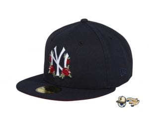 Hat Club Exclusive Rose Floral Red UV 59Fifty Fitted Hat Collection by MLB x New Era Yankees