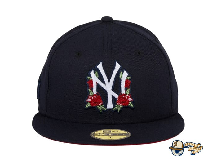 Hat Club Exclusive Rose Floral Red UV 59Fifty Fitted Hat Collection by MLB x New Era