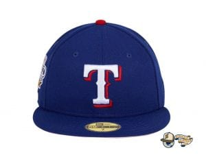Hat Club Exclusive Texas Rangers 2010 World Series Patch Pink UV 59Fifty Fitted Hat by MLB x New Era Front