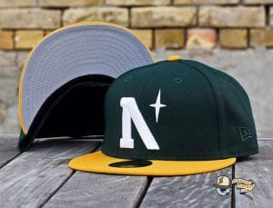 Heritage North Star September 2020 59Fifty Fitted Cap Collection by Noble North x New Era Green