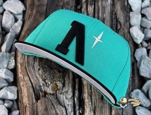 Heritage North Star September 2020 59Fifty Fitted Cap Collection by Noble North x New Era Teal
