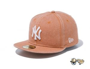 Italian Wash New York Yankees 59Fifty Fitted Cap by MLB x New Era Tan