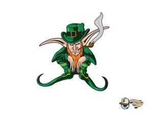Mcnutts Leprechaun The Town Green Gold 59Fifty Fitted Cap by The Capologists x New Era Design