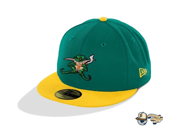 Mcnutts Leprechaun The Town Green Gold 59Fifty Fitted Cap by The Capologists x New Era