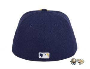 Milwaukee Brewers Alternate Navy Gold 59Fifty Fitted Hat by MLB x New Era Back