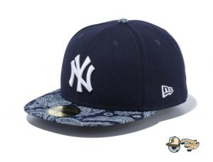 New York Yankees Denim Paisley 59Fifty Fitted Cap by MLB x New Era