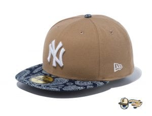 New York Yankees Denim Paisley 59Fifty Fitted Cap by MLB x New Era Front