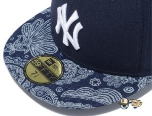 New York Yankees Denim Paisley 59Fifty Fitted Cap by MLB x New Era Zoom