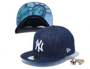 New York Yankees Statue of Liberty Undervisor 59Fifty Fitted Cap by MLB x New Era Denim