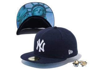New York Yankees Statue of Liberty Undervisor 59Fifty Fitted Cap by MLB x New Era Navy