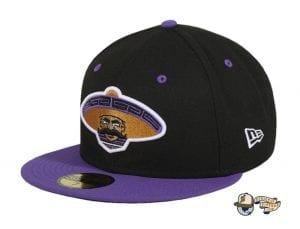 Revolutionary Black Purple 59Fifty Fitted Hat by Dankadelik x New Era
