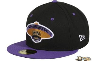 Revolutionary Black Purple 59Fifty Fitted Hat by Dankadelik x New Era