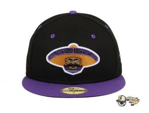 Revolutionary Black Purple 59Fifty Fitted Hat by Dankadelik x New Era Front