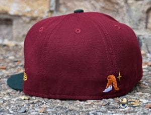 Sneaky Blinders Cardinal Dark Green 59Fifty Fitted Cap by Noble North x New Era Back
