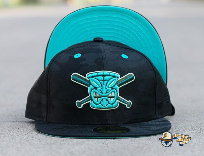 The Tikis Black Tonal Camo 59Fifty Fitted Hat by Chamucos Studio x New Era