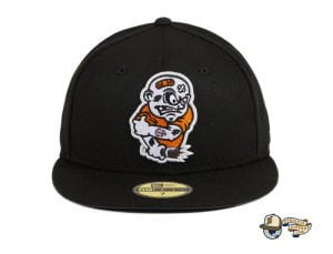 Brawlers Black Orange 59Fifty Fitted Hat by Chamucos Studio x New Era