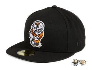 Brawlers Black Orange 59Fifty Fitted Hat by Chamucos Studio x New Era Left