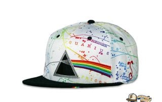 Dark Side Of The Moon White Fitted Hat by Pink Floyd x Grassroots