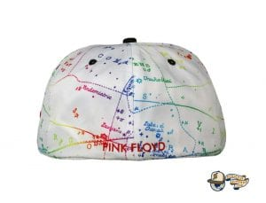 Dark Side Of The Moon White Fitted Hat by Pink Floyd x Grassroots Back