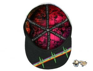 Dark Side Of The Moon White Fitted Hat by Pink Floyd x Grassroots Bottom