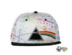 Dark Side Of The Moon White Fitted Hat by Pink Floyd x Grassroots Front