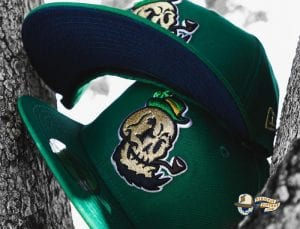 Golden Domers Kelly Green 59Fifty Fitted Hat by Chamucos Studio x New Era Front