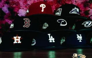 Hat Club Exclusive MLB Side Patch Glow In The Dark 59Fifty Fitted Hat Collection by MLB x New Era